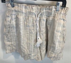 Abercrombie Ultra High Waist Striped Shorts Size S Elastic Waistband NWT