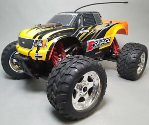 HPI RACING E SAVAGE RC ELECTRIC 4WD MONSTER TRUCK - NEEDS SOME REPAIR