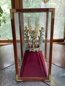 Korean National Treasure 24k Gold Plated Crown with Jade Silla Dynasty Replica