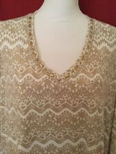 Hearts Of Palm Woman's Plus Cut Out Sleeve Top NWT Size 2X Retail $58.00