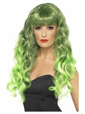 Smiffys Siren Wig - Long and Curly with Fringe - Green