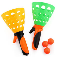 Click and Catch Twin Ball Game Indoor Outdoor Garden Toy Set Launch Catch ball S