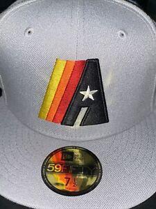 7 1/2 houston astros grey 50th anniversary orange bottom fitted hat