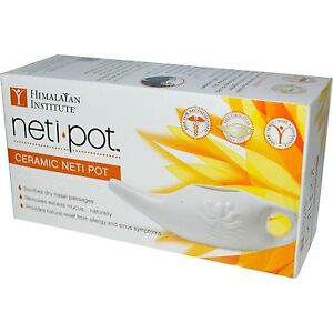 Ceramic Neti Pot by Himalayan Institute - Relief from Allergy & Sinus Symptoms