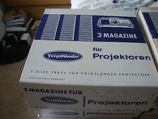 Slide projector slide cassette trays X 3 35 slides FOR VOIGTLANDER + package box
