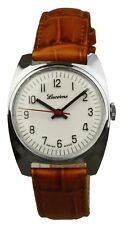 Lucerne handwinding swiss made watch NOS - brown strap - unworn