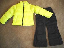 Snowsuits Ski Pants Puffer Jacket Snow pants Coats Girls Outerwear 2 Pc Set 6/6X
