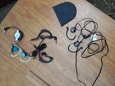 lot of 3 earbud headphones koss sportclip Phillips and over ear set of three