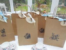 Alice au pays des merveilles set de 6 style vintage fête sacs