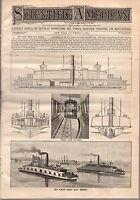 1888 Scientific American December 8-Screw Ferry Boat Bergen;Rock Hopper Penguin
