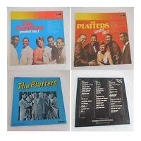 THE PLATTERS GREATEST HITS 1 et 2 + coffret 3 disques vinyles 33 tours