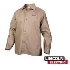 Lincoln Electric K3317 M Traditional Khaki Fr Cloth Welding Jacket Medium