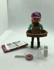Playmobil Series 14 9444 Snack Seller Lady Figure & Stickers New