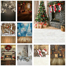 Decor Tree Ball Fireplace Plank Vinyl Photo Background Studio Backdrop 3x5/5x7ft