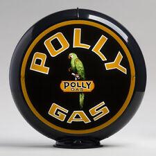 """Polly Gas 13.5"""" Gas Pump Globe w/ Black Plastic Body (G162)"""