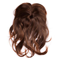 40CM Light Brown Hairpiece/Toupee Replacement Women Top Synthetic Hair Topper