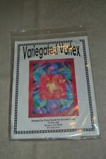 Quilt Template Set, Variegated Vortex. 4 acrylic templates, pattern instructions
