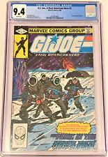 G.I. Joe #2 8/82 CGC 9.4 WHITE pg DIRECT ed (1st cover and 2nd app Snake Eyes)