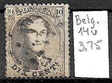 Belgium #14, used - 1863 - Leopold I - 10c - CV=3.75
