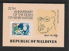 1979 Maldives Matisse Anniversary Minisheet SG MS822 Unmounted Mint