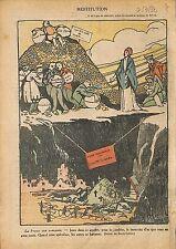 Dette Nationale Speculateurs Restitution Veau d'Or Marianne 1920 ILLUSTRATION