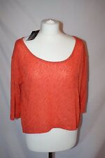 BNWT Ladies M&S Limited Collection crop top orange flame size 12