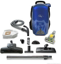 GV Back Pack Vacuum Cleaner Blower Electric Loaded Blue 8 Quart Powerful HEPA