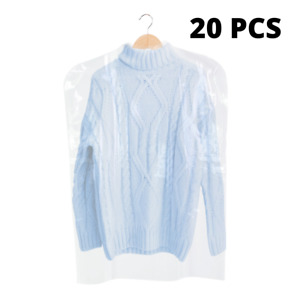 """Clear 20pcs Polythene Clothes Covers Garment Storage Protector Bags Quality 38"""""""