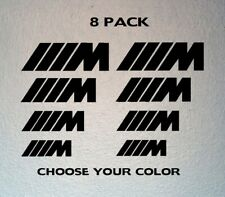 Set of 8 BMW Motorsport Brake Vinyl Decal Caliper Stickers Brembo