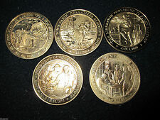 """1 - America Bronze Medals - """"History Of Slavery"""" 5 different to choose from"""