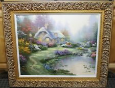 Thomas Kinkade G/P Canvas Gallery Signed Lithograph Everett's Cottage 24' x 30""