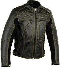 Noir pour hommes protection CE PROTECTION MOTO Skeleton Veste cuir moto