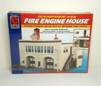 LIFE-LIKE Trains HAMPTEN #46 FIRE ENGINE HOUSE KIT HO Scale Model #1390 - NIB