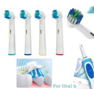 4 × Electric Toothbrush Universal Replacement Heads Oral B Braun Precision Clean