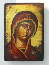 Holy Virgin Mary Greek Byzantine Icon Hand Painted!!!
