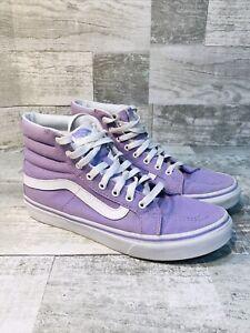 "Vans ""Off The Wall"" Lavender High Top Sneakers Women's SZ 7.5 Men's SZ 6 VGU"
