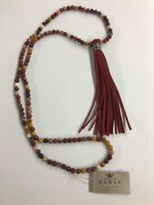 Beautiful Fringe Tassel Natural Sterling Silver Earth 🌏Stone Barse Necklace New