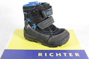 Richter Ll Boots Winter Boots Black/Blue Padded 2032 New