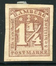 GERMANY STATES HAMBURG SC# 9a MICHEL# 8 MINT HINGED AS SHOWN MO