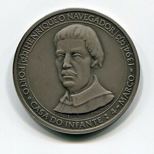Genuine Portugal Pure Silver Henry the Navigator Medal Infante Dom Henrique