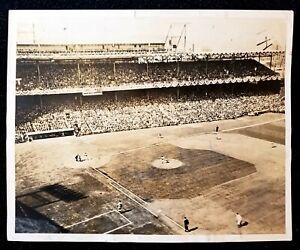 1940 Crosley Field World Series VTG Game 6 Type 1 Photo Detroit Tigers vs Reds