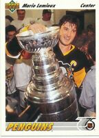 Mario Lemieux 1991-92 Upper Deck #156 Pittsburgh Penguins Hockey Card