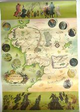 VINTAGE J R R TOLKIEN PRINT POSTER MIDDLE EARTH - Geo Allen & Unwin 1970