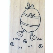 A Muse Wood Mounted Stamp EGG COSTUME Cute Easter Chick D0086 Amuse by Elzybells