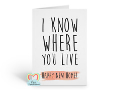 funny moving house card, funny new home card, housewarming, moving house