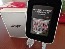 2001 BRADFORD PA PENNZOIL BUILDING ZIPPO LIGHTER MINT IN BOX 634/750