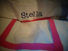 Pottery Barn kids  Pink A-Frame Tent cover only monogrammed Stella New wo tag