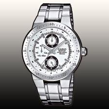 Casio EF314D-7AV Men's Edifice Stainless Steel White Dial Multi-function Watch