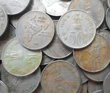 100 Coins Lot - 50 Paise (National Integration) 1982 Commemorative: Nation india