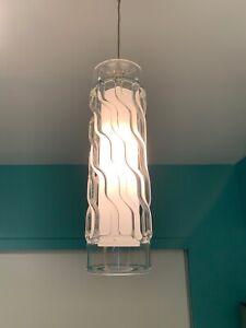 Tech Lighting Freejack Liza Pendant Clear Glass Satin Nickel Used